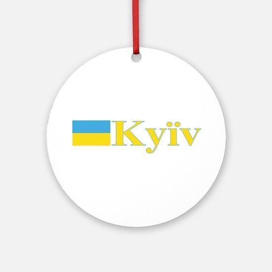 Kyiv, Ukraine Ornament (Round)