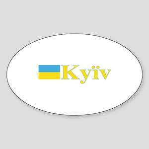 Kyiv, Ukraine Oval Sticker