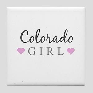 Colorado Girl Tile Coaster