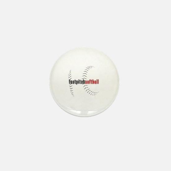 Fastpitch Softball Mini Button