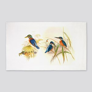 Goulds Kingfisher Birds 3'x5' Area Rug