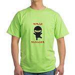 Ninja Blogger Green T-Shirt