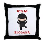 Ninja Blogger Throw Pillow