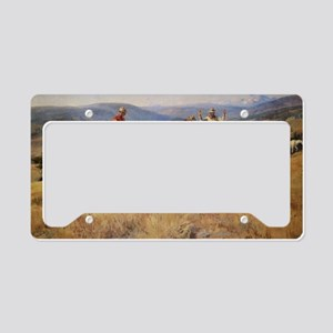Vintage Cowboys License Plate Holder