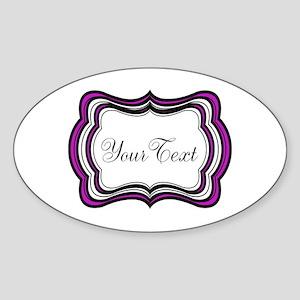 Personalizable Purple Black White Sticker