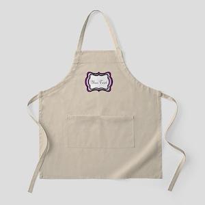 Personalizable Purple Black White Apron