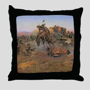 Vintage Cowboys Throw Pillow