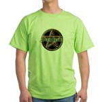 """Samhain Pentacle"" Green T-Shirt (front & back)"