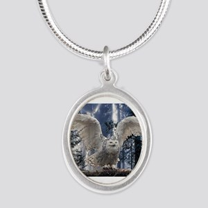 Woody Snow Owl Necklaces