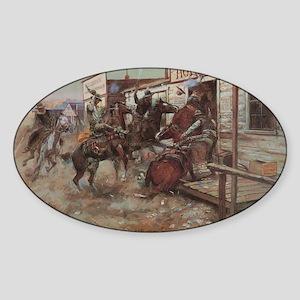 Vintage Cowboys Sticker (Oval)