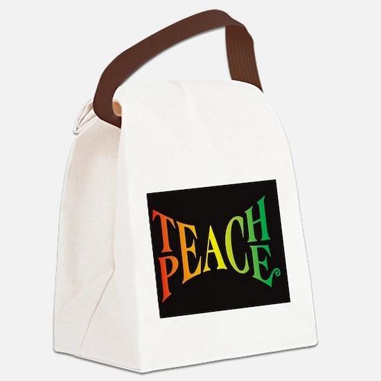 Unique Teach Canvas Lunch Bag