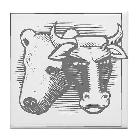 Bear & Bull Tile Coaster
