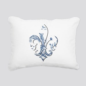 FRENCH TOILE Rectangular Canvas Pillow