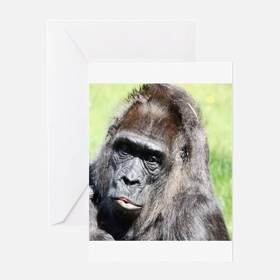 Kissing Monkey Greeting Cards