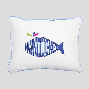 Cute Nantucket Whale Rectangular Canvas Pillow