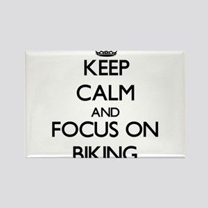 Keep Calm and focus on Biking Magnets