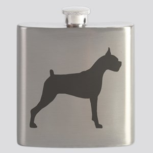 Boxer Dog Flask