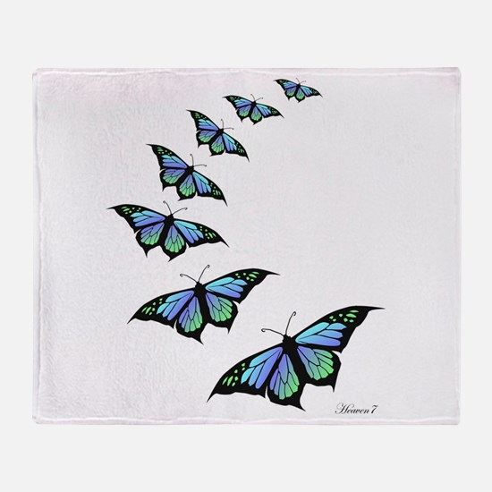 Unique Butterflies Throw Blanket