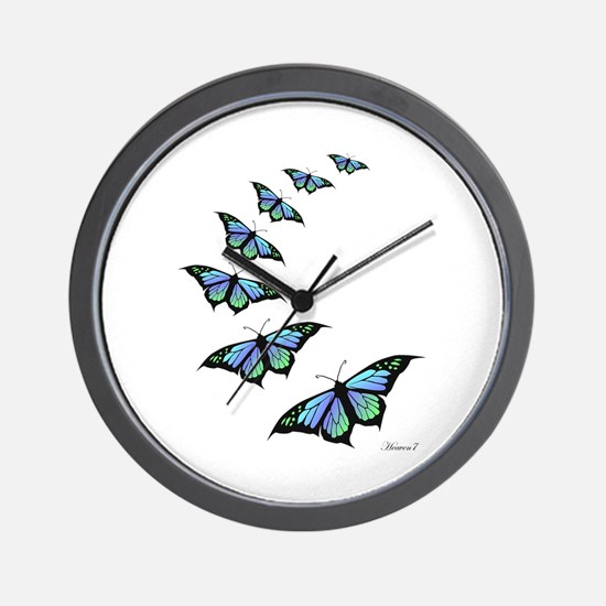 Unique Butterfly Wall Clock
