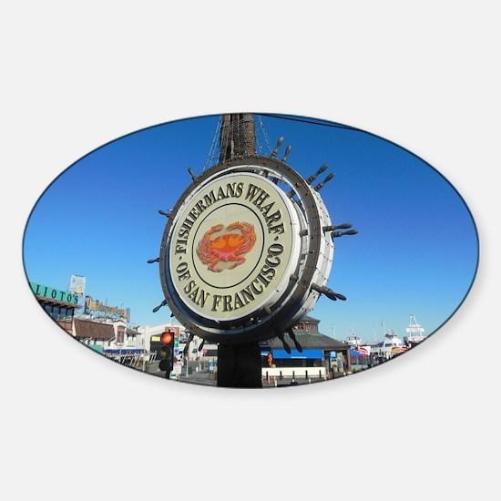 Cute San francisco fisherman Sticker (Oval)