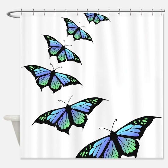 Cute Butterfly Shower Curtain