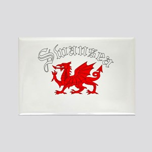 Swansea, Wales Rectangle Magnet