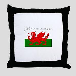 Swansea, Wales Throw Pillow