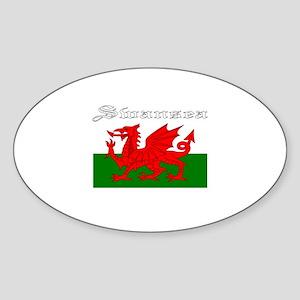 Swansea, Wales Oval Sticker