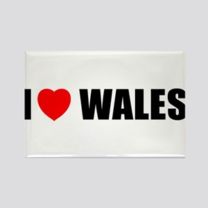 I Love Wales Rectangle Magnet