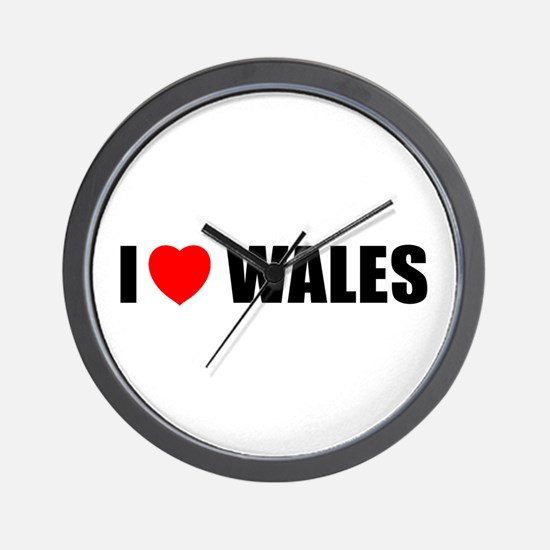 I Love Wales Wall Clock