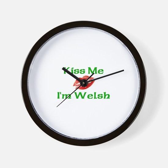 Kiss Me I'm Welsh Wall Clock