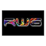 Raven West Guitar Sticker (rectangle 10 Pk)