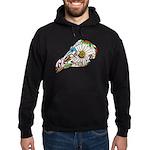 Rooster Sugar Skull Hoodie (dark)