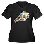 Rooster Sugar Skull Plus Size T-Shirt