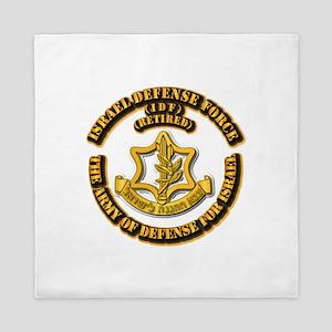 Israel Defense Force - Idf - Retired Queen Duvet