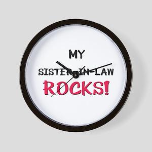 My SISTER-IN-LAW ROCKS! Wall Clock