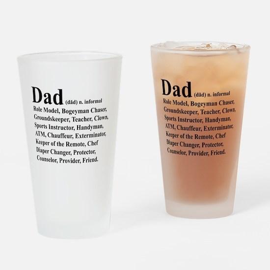 Dad definition Drinking Glass