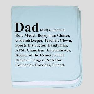 Dad definition baby blanket