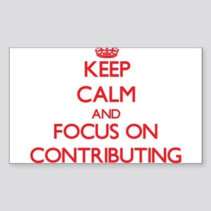 Keep Calm and focus on Contributing Sticker