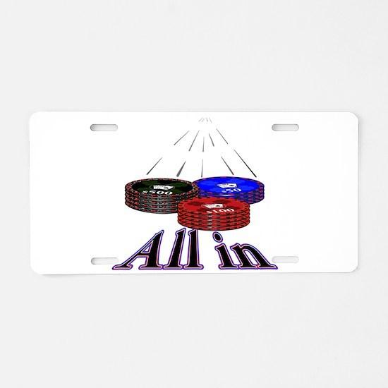 Unique Casino Aluminum License Plate