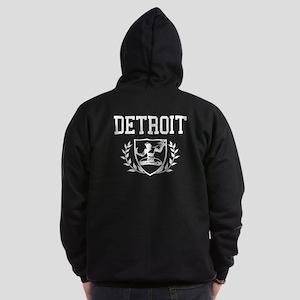 Spirit Of Detroit Crest Zip Hoodie (dark)