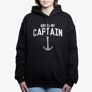 God Is My Captain Women's Hooded Sweatshirt
