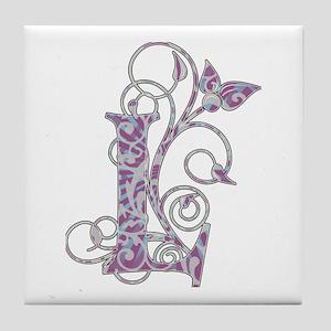 Bohemian Monogram L Tile Coaster
