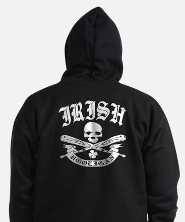 Irish Hooligan Zip Hoodie (dark)