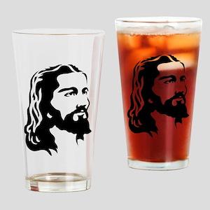 Jesus Face Drinking Glass