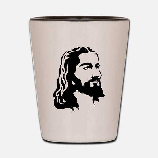 Jesus Face Shot Glass