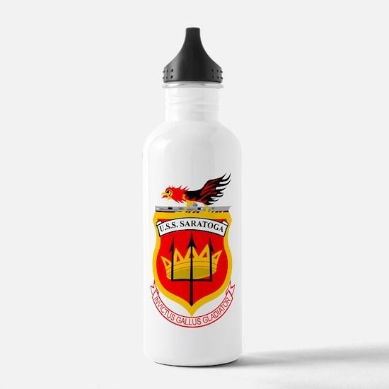 USS Saratoga CV-60 Water Bottle