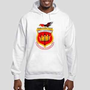 Personalized Uss Saratoga Cv-60 Hooded Sweatshirt
