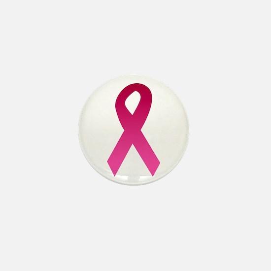 Breast Cancer Pink Ribbon Mini Button