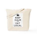 Keep Calm and Eat Local Tote Bag
